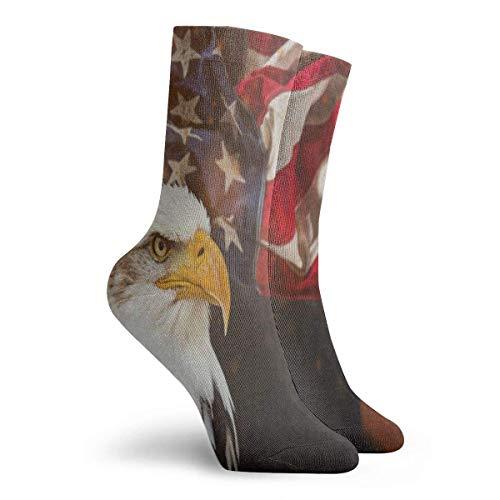 FunnyStar Socken North American Bald Eagle Flag Stylish Männer Frauen Stocking Holiday Sock Clearance für Mädchen - Größe 39-45 (American Schuhe Eagle Jungen)