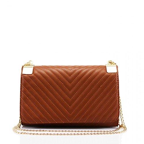 Craze London Damen Gesteppte Design Schulter Kette Abend Clutch Bag -