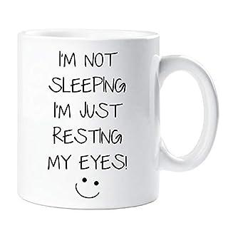I'm Not Sleeping I'm Just Resting My Eyes Mug Sarcasm Sacrastic Friend Gift Cup Birthday Christmas