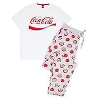 Vanilj underjordisk Coca-Cola logotyp herr pyjamas vit grå lounge set
