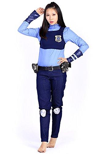 Police Uniform Officer (De-Cos Zootopia Cosplay Costume Officer Judy Hopps Police Uniform Outfit Set)