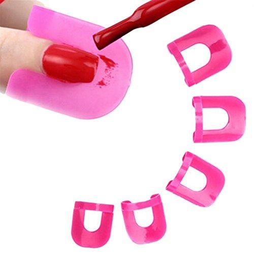 Frcolor Nagellack Schablone 26 Stück in 10 Größen Nagellack einfach wieder verwendbare Nägel Rand Hautbarriere