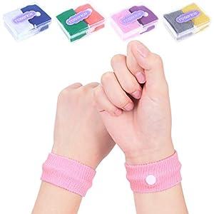 HEALIFTY Akupressur Armband – 8 Stück Seekrankheit Armbänder gegen übelkeit Anti-Übelkeit Bänder für Seekrankheit Schwangerschaft Fliegen Reiseübelkeit
