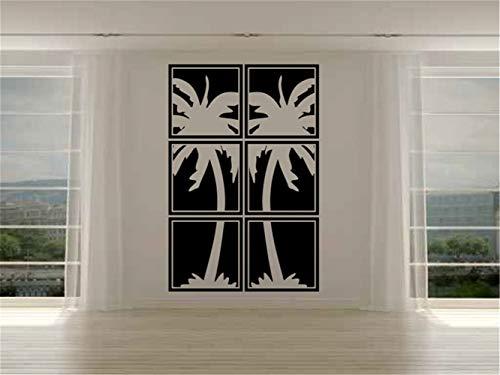 wandaufkleber küche fliesen wandaufkleber spruch schlafzimmer beach wall sticker Palm Tree Panels Vinyl Wall Decal Sticker for living room bedroom -
