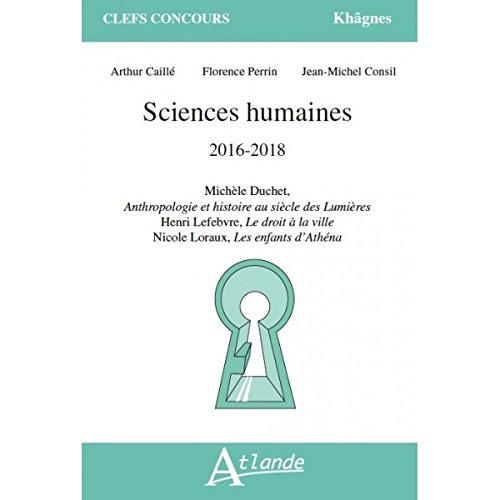 Sciences Humaines 2016-2018 par Florence Perrin
