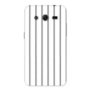 Neo World Classy White Black Stripes Back Case Cover for Galaxy Core 2