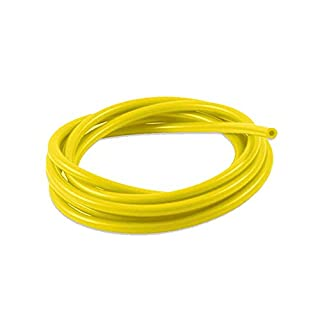 5mm ID Yellow 2 Metre Length Silicone Vacuum Hose - AutoSiliconeHoses