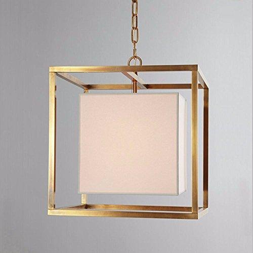 LLSB American campagna retrò moderna minimalista creativo camera da letto in ferro da salotto a buffet sala geometrica guanto luce pendente 40cm