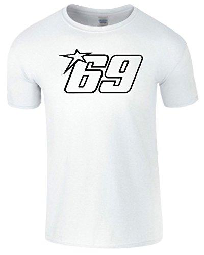 Nicky Hayden Frauen Der Männer Damen MOTO GP T Shirt Weiß / Schwarz Design
