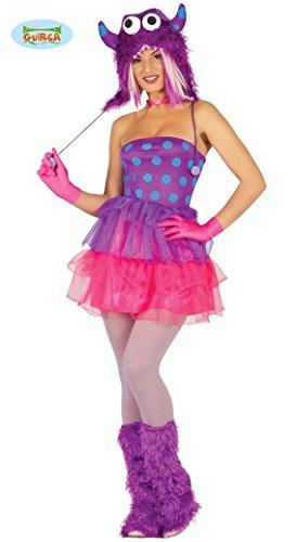 Sexy Lila Monster Kostüm für Damen Halloween Damenkostüm Monsterkostüm Tutu Gr. M, Größe:M (Lila Monster-kostüm)