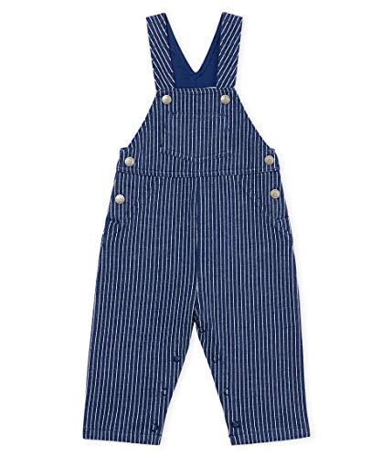 Petit Bateau Baby-Jungen Banka Latzhose, Mehrfarbig (Smoking/Marshmallow 01), 98 (Herstellergröße: 36M/95cm) - Petite Hose Hosen