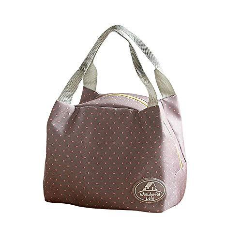 Sac Isotherme, Portable Lunch Bag Réutilisable pour Panier-Repas Repas Multi-usages Style Sac à Déjeuner Adulte pour Travail Ecole Voyage Pique-Nique Camping Repas Préparés feiXIANG