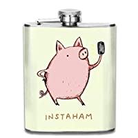 Personalized Flask High Quality Perfect Smelly Pig Stainless Steel Hip Flask 7 OZ - Sneak Alcohol Anywhere for Man,Woman