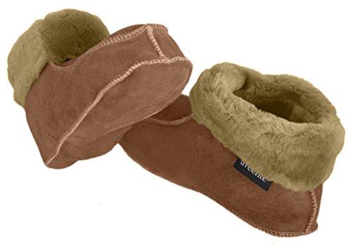 Carneiro Sapatos Pele sola De Forrado Envelope Couro Diferente Damenhaus De Solas Camelo De Pele De Carneiro De Cores Com Couro AAwTSqrv