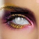 lentillas de contacto blancas Mesh Mode estuche de lentillas