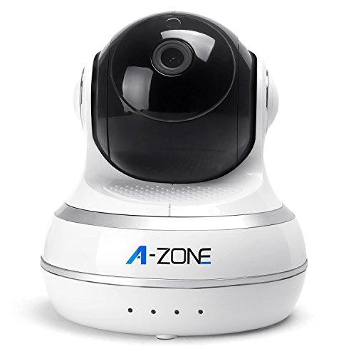 Newsbenessere.com 41g-BbZXz0L A-ZONE Telecamere Sorveglianza IP Network Camera Wifi Camera Giorno Notte telecamera pan / tilt baby monitor HD 720P (1MP) IP di sorveglianza con video versione di notte 2 audio bidirezionale coperto (Bianco & Nero)