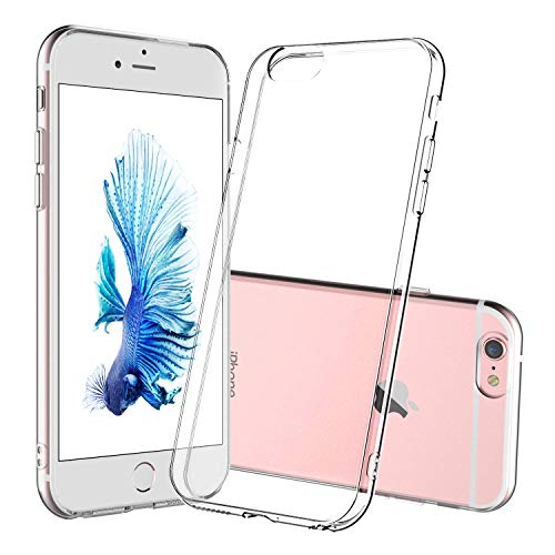 DOSMUNG Funda para iPhone 6 iPhone 6s, Ultra Fina Suave TPU Gel Carcasa, HD Clara Caso, Anti- Choques, Anti- Arañazos, Protección a Bordes y Cámara, Premiun Carcasa para iPhone 6/6s - Transparente