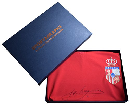 Sportagraphs-Emilio-Butragueno-SIGNED-Spain-Shirt-Autograph-Gift-Box-Scoredraw-AFTAL-COA-PERFECT-GIFT