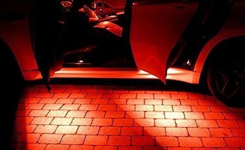 4x SMD LED Rot Türausstiegs Beleuchtung passend für Ihr