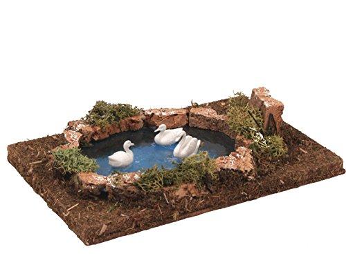 Bertoni lago dei cigni, legno, multicolore, taglia unica