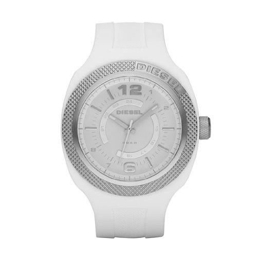Diesel DZ1443 - Reloj analógico de cuarzo unisex con correa de silicona, color blanco