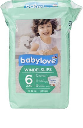 babylove Pants Windelslips Größe 6, XXL 18-30kg, 18 St