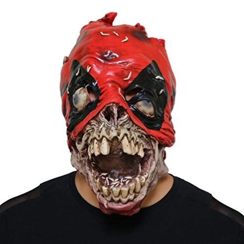 Zombie Kostüm Cartoon - Upxiang Halloween Maske - Scary Terror Zombies Maske - Latex - Cartoon Kostüm Party Requisiten Vollkopfmaske (Zombies)