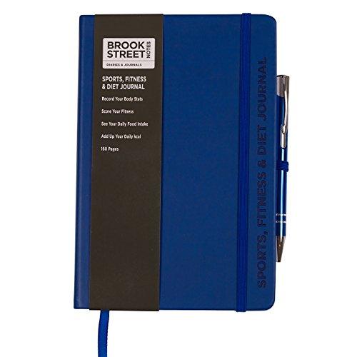 Sports, Fitness & Diet Notebook - Hardback A5 Diet Gift (Deep Blue)