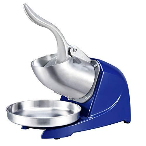 DGYAXIN Ice Crusher, Smoothies Ice Shaver Maschine Doppelschneider Eiscrusher Schnee Shaver, Edelstahl, 300w Eiszerkleinerer, für Heim Gewerbliche Küche Bar
