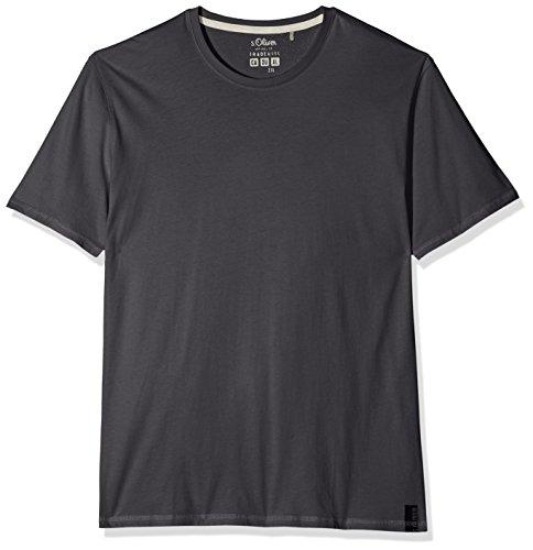 s.Oliver Big Size Herren T-Shirt 15 801 32 3157, Grau (Vulcano Grey 9581), XXX-Large (S/s Grau T-shirt)