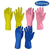 Primeway LW1 3As Medium Natural Rubber Flock Lined Hand Gloves Set