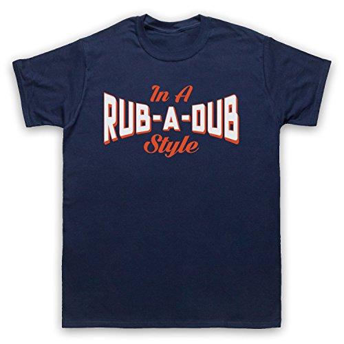 In A Rub A Dub Style Jamaican Reggae Music Herren T-Shirt Ultramarinblau