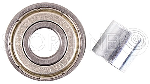 ABEC-5 CARBON Kugellager Ball Bearings Inline 8 St + Buchsen 4 St. HUZZ