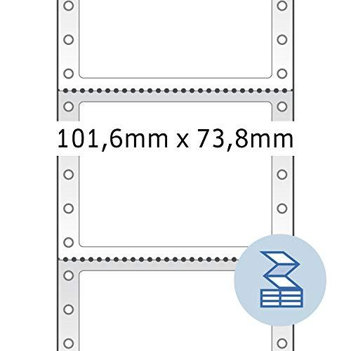 Herma 8203 Computeretiketten (Papier matt, 101,6 x 73,8 mm) 2000 Stück weiß