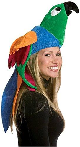 Childs Papagei Kostüm - Rasta Imposta 2013 Mehrfarbiger Papagei Hut (Einheitsgröße)