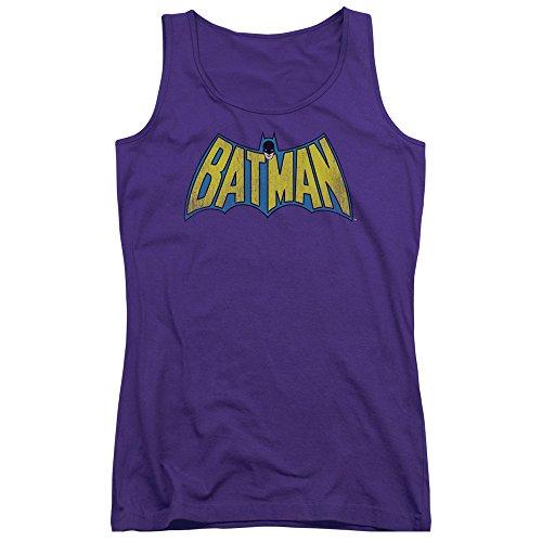 Dc-da ragazzo con Logo invecchiato-Canottiera, motivo: Batman viola viola