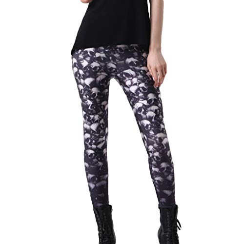 Juleya Gothic Leggings Pants Skull Print 3D Slim Sexy Fitness Mujeres Casual Bottoms Joggings Gothic Trousers