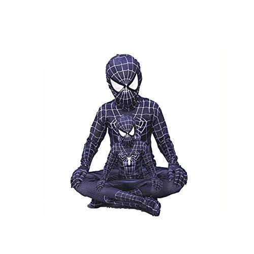 YANJJ Halloween Spiderman Kostüm Kinder Erwachsene Strumpfhosen,High(110-120Cm)-E