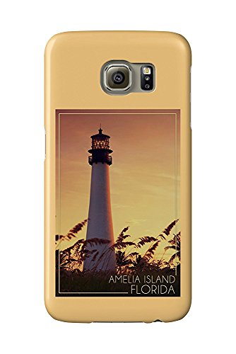 Amelia Island, Florida - Lighthouse and Seagrass (Galaxy S6 Cell Phone Case, Slim Barely There) - Amelia Island Lighthouse