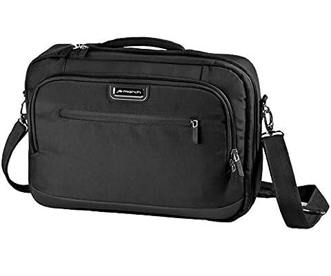 MARCH 15 Business Rucksack Rolling Laptoptasche Messenger Bags 1,1 kg Schwarz 42x30x10cm NYLON Bordgepäck Kabinen Handgepäck Umhänge Tasche Bowatex