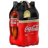 Coca Cola Zero Refresco con Gas con Zero Azúcar, Zero Cafeína, Zero Calorías - 4 Botellas x 2000 ml - Total: 8000 ml