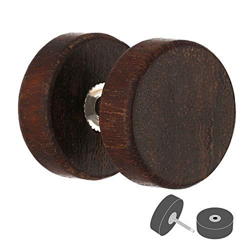 Treuheld Piercing Fake Plug - Holz - Braun [02.] - 1.0 x 8 mm (Männer 8mm Für Ohrstecker)