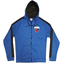 Slowakei Jacke Sweater Royal GO Slovensko Trikot Look Zip Nation Fussball Sport