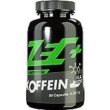 ZEC+ hochdosiertes KOFFEIN | 200 mg in Reinform | Fatburner | regt den Stoffwechsel an | beugt Müdigkeit vor | kann Konzentration steigern | 90 Kapseln