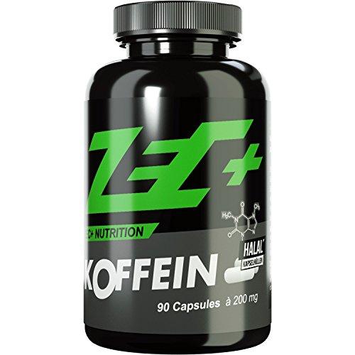 Koffein Pulver (ZEC+ hochdosiertes KOFFEIN | 200 mg in Reinform | 90 Kapseln)