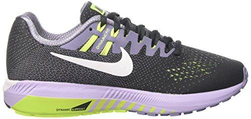 Nike Wmns Air Zoom Structure 20, Scarpe da Corsa Donna Nero (Anthracite/White/Iron Purple/Volt)