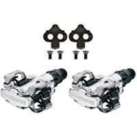 "Shimano PDM520 Clipless SPD Bicycle Cycling Pedals SILVER ""With Cleats"""