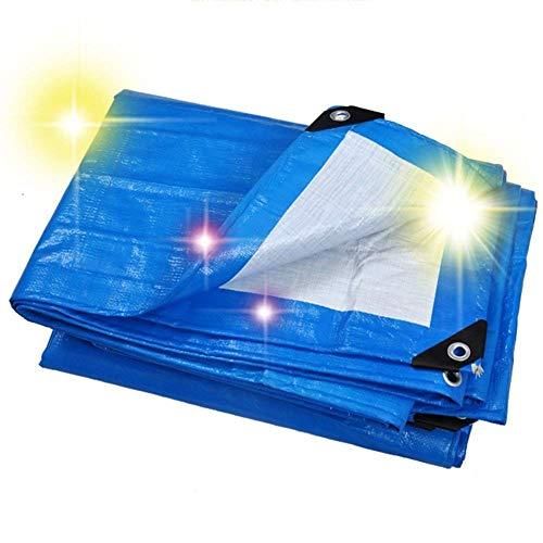 SSYBDUAN Plane, im Freien schützende Segeltuch-Starke haltbare Blaue Wasserdichte...