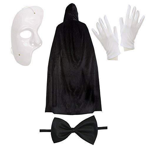 Der Herren Kostüm Phantom Oper - Phantom der Oper Halloween Kostüm Satz