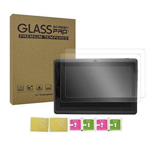 tablet irulu Transwon [2 Pack] 7 Pollici Vetro Temperato Screen Protector per iRULU Tablet da 7 Pollici Google Android 8.1